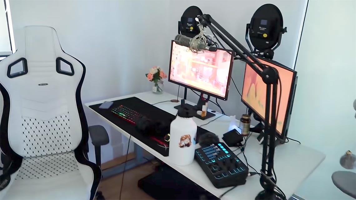 Pokimane Gaming Room Setup