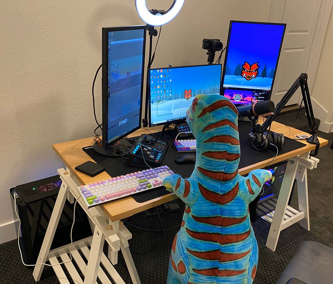 SypherPK Gaming Room Setup