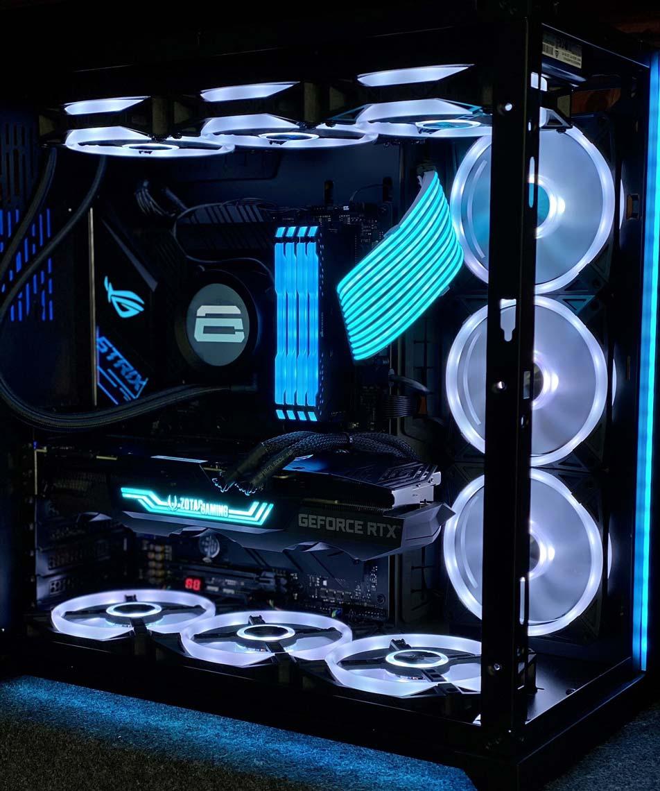 Crimsix Gaming Room Setup