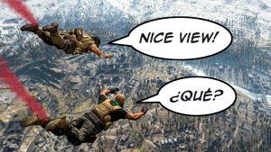Warzone Skydive Language Barrier Comic